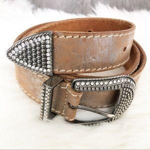Calvin Klein tan Leather shimmer belt size XL